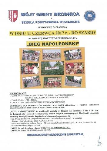 Bieg Napoleoński - Szabda 11 czerwca 2017